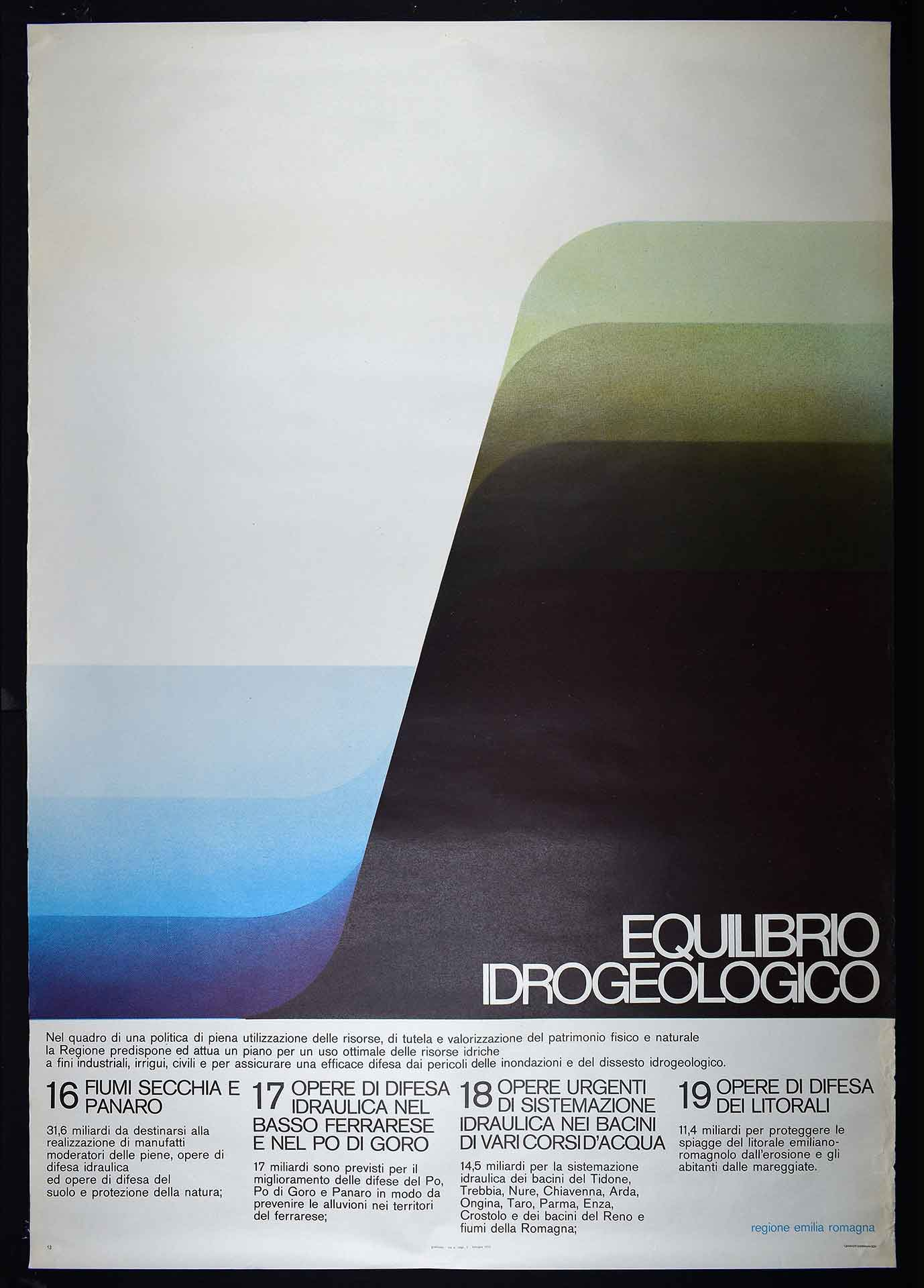 1975. Regione Emilia-Romagna. Stampa Graficoop, Bologna. Campagna istituzionale.