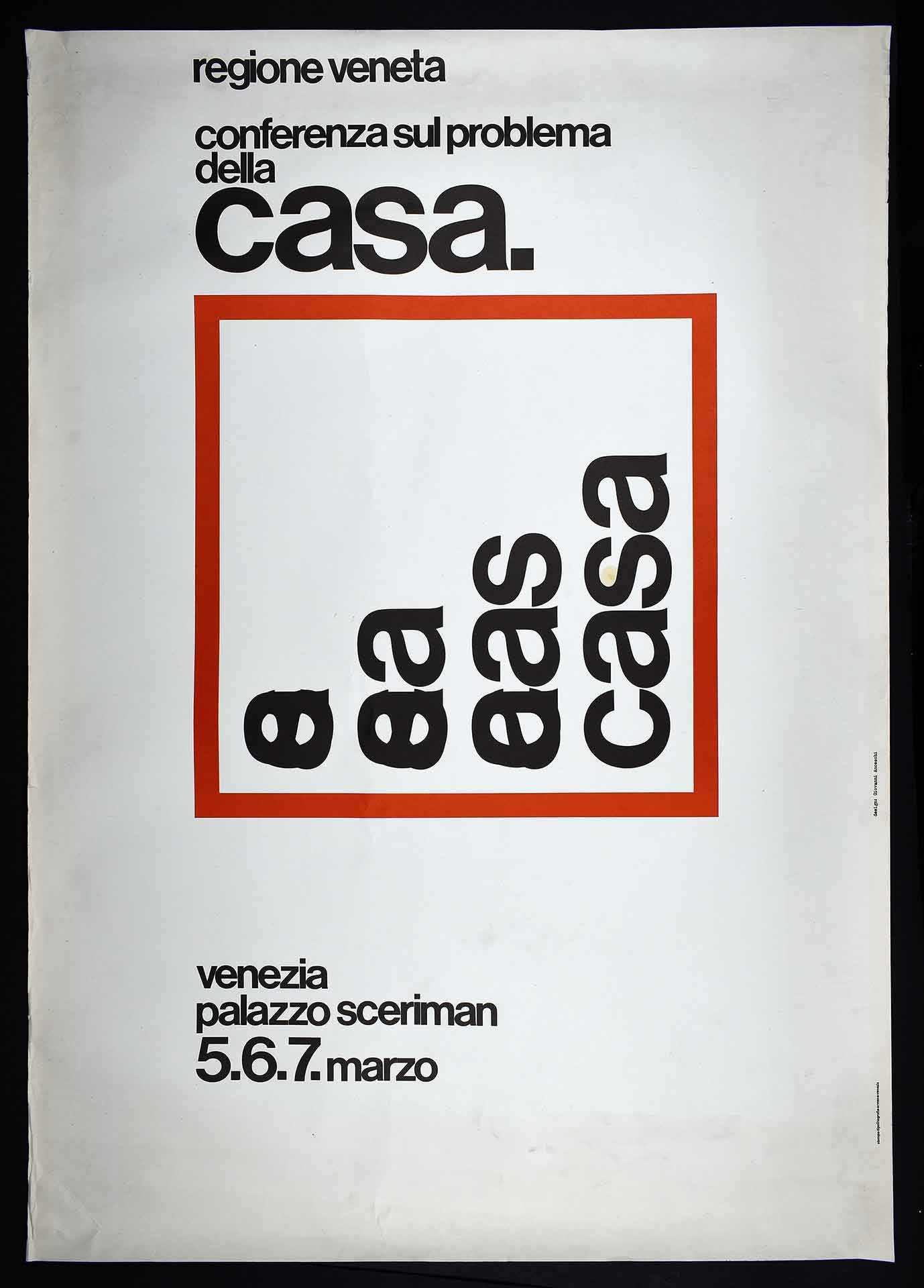 Regione Veneta. Stampa Tipolitografia Armens, Venezia. Design di Giovanni Anceschi. Campagna istituzionale.