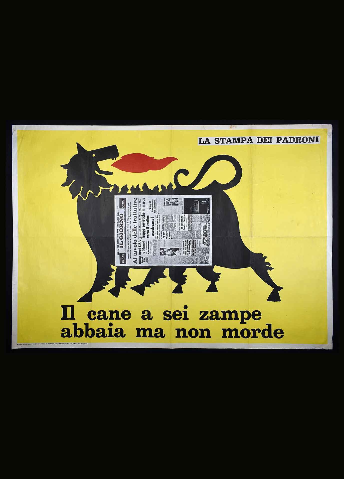 Partito comunista italiano (PCI) per la trattativa sindacale all'Ente nazionale idrocarburi (ENI). Stampa Fratelli Spada stabilimento grafico editoriale, Ciampino (Roma). Comunicazione di partito.